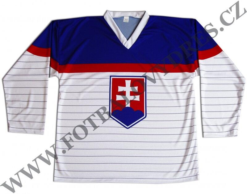 c20444036a3 Hokejový dres SR - bílý Slovensko