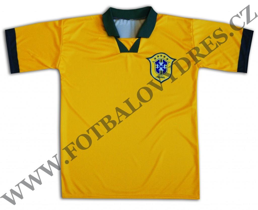 BRAZIL fotbalový dres s vlastním potiskem - jménem a číslem 1290e100f0