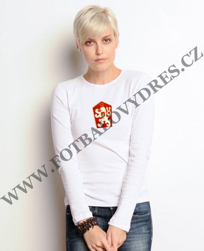 5423c54d5488 ČSSR Dámské tričko dlouhý rukáv retro znak