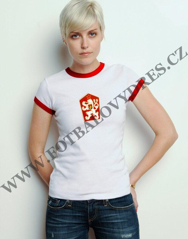 94c7c715ef84 ČSSR Dámské tričko krátký rukáv retro znak