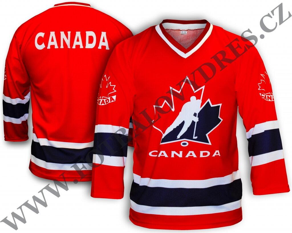 48ea6191c KANADA hokejový dres červený - nápis na zádech CANADA