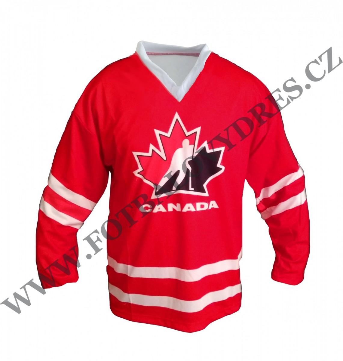 dfebc6dad CANADA hokejový dres KANADA červený