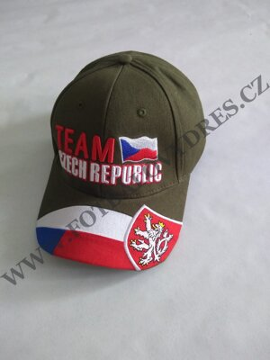 Kšiltovka CZECH REPUBLIC TEAM army zelená